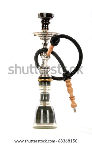 Black hookah isolated on a white background