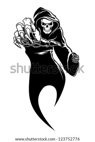 Black horror - danger death with bones for fear concept. Vector version also available in gallery