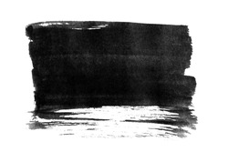 Black ink background painted by brush. Illustration