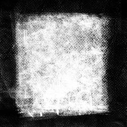 Black Ink Square Vintage Border. Napkin Tissue Texture.