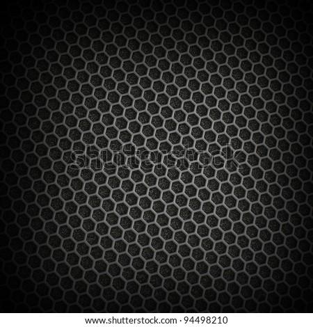 Black iron speaker grid texture.