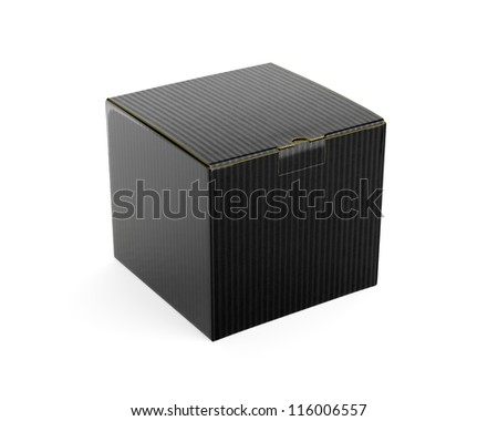 Black isolated box. High resolution  render