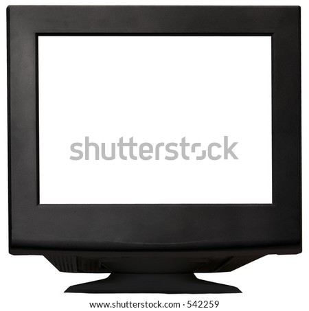 Black isolated monitor