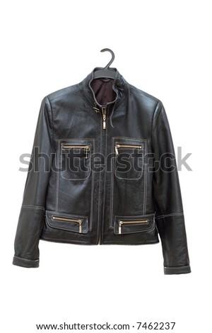 Black jacket isolated on the white backrgound