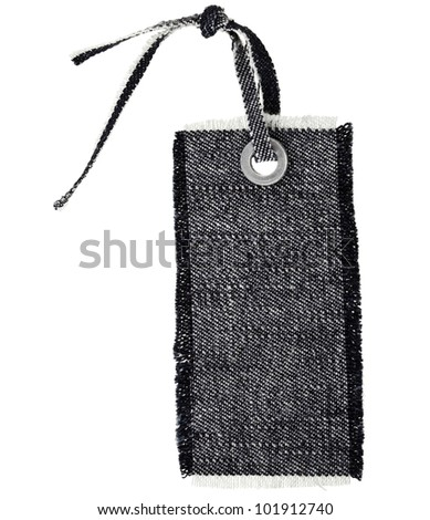 Black Jeans Tag Isolated on White