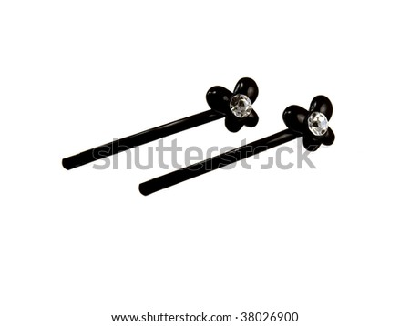 Black jewelry isolated on a white background