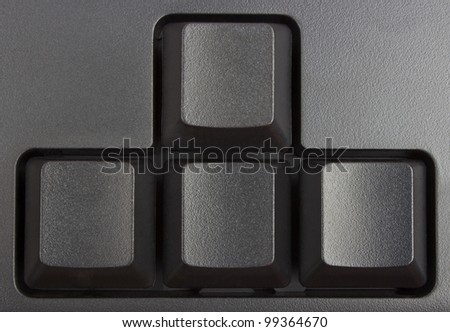 black keyboard close up, computer keys on keyboard