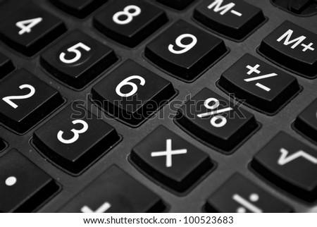 Black keypad background close - stock photo