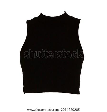 Black Knitted Halster Crop Top  Stock fotó ©