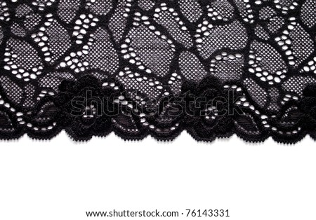 Black lace border with copy space
