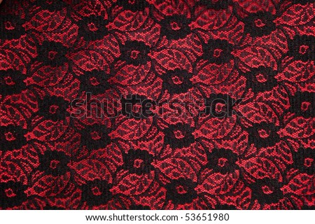 Black lace on dark red satin - gothic fetish backgrounds.