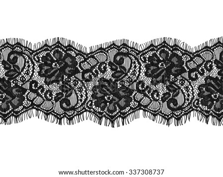 black lace on white background #337308737