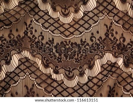 Black lace texture - stock photo