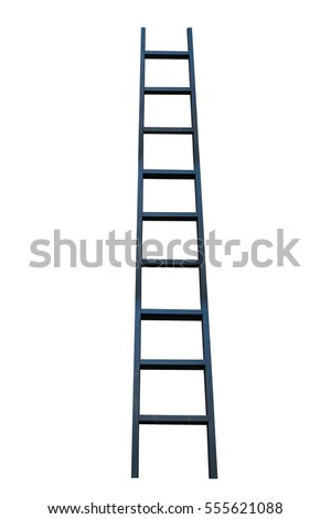 black ladder on white background #555621088