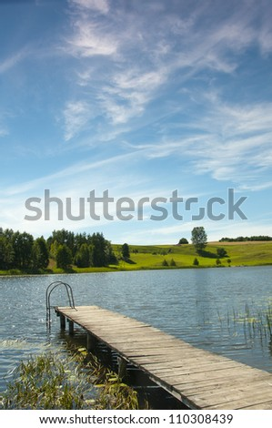 Black Lake in the Suwalki region Osinkach. Poland