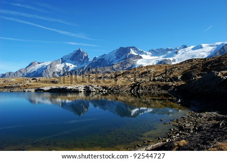 Black Lake, plateau de Paris in Alps, France This is i beautiful small lake called Black lake on the plateau de Paris in the Alps in France