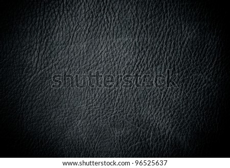 Black leather - stock photo