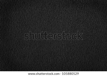 black leather background, black and white grain texture