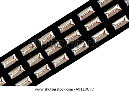Black Leather Belt with Chrome Studs