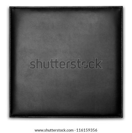 Black leather case or wallet.