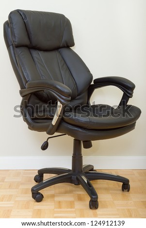 Black Leather chairman chair in office