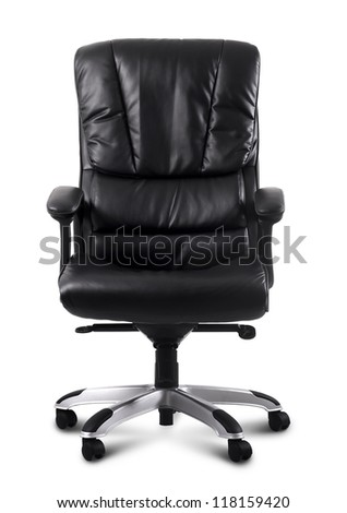 black leather computer chair #118159420