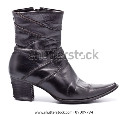 Black Leather Female Boots