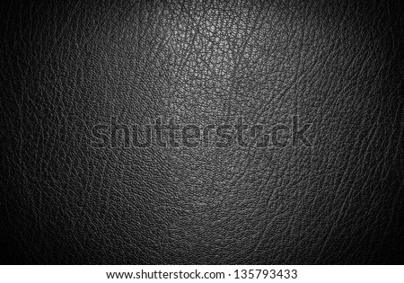 Black leather for texture background from car seats