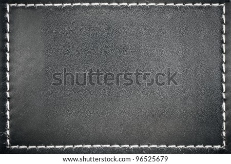 Black leather frame for background usage
