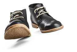 Black leather men's shoes -Clipping Path