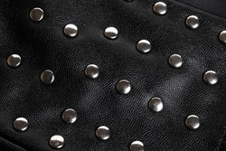 Black Leather Rivet