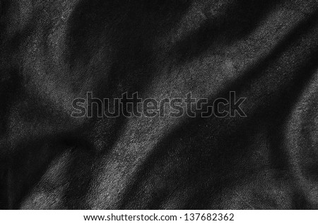 black leather surface texture