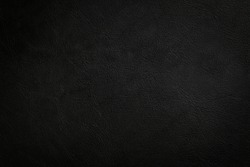 Black leather texture background, Luxury Black Background For Text.