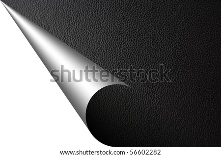black leather texture with corner and copyspace for text message