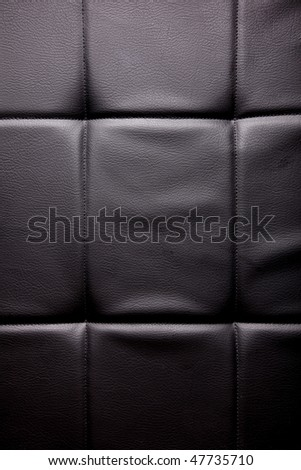 Black leather texture with light. Empty to insert text or design - stock photo