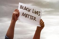 Black lives matter, fight against racism, protest concept