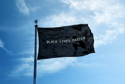 BLACK LIVES MATTER Flag on the mast