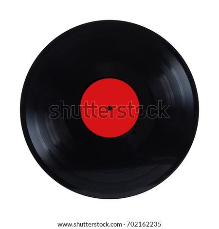 black long play vinyl record...
