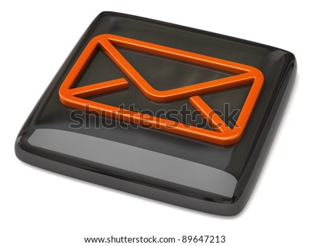 Black mail icon on white background
