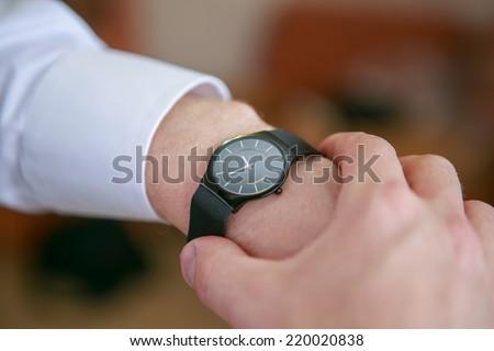 Black man\'s watch on the wrist
