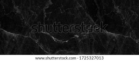 black marble background. black Portoro marbl wallpaper and counter tops. black marble floor and wall tile. black travertino marble texture.  natural granite stone.  Stock photo ©