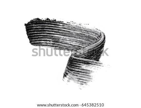Shutterstock Black mascara brush strokes isolated on white