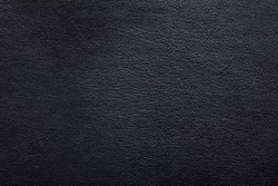 Black matte leather background, abstract black dark texture backdrop