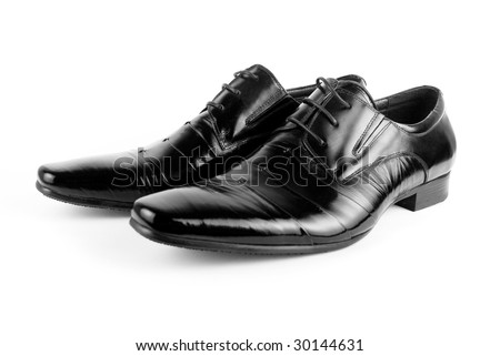 Black men shoes isolated on white background