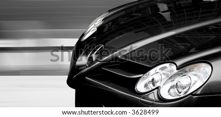 Black Mercedes SLR racing