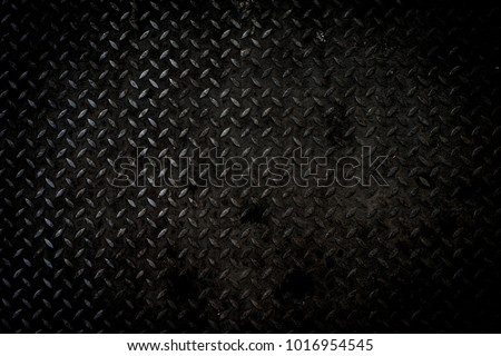 Black metal background or black steel surface