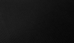 black metal mesh plate background. dark circle shape pattern background.