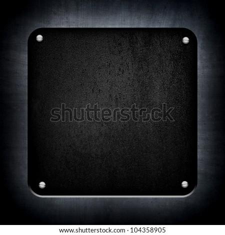 black metal plate