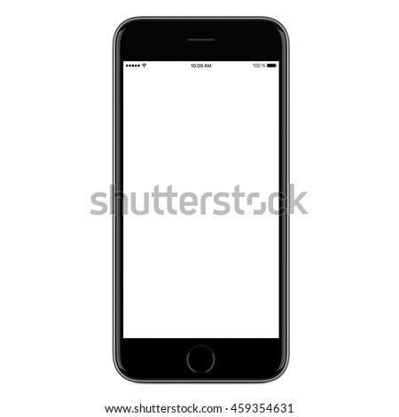 Black mobile smart phone mock up. For game design, smartphone mobile application presentation or portfolio mockups. This smartphone mock-up isolated on white background. Enjoy!