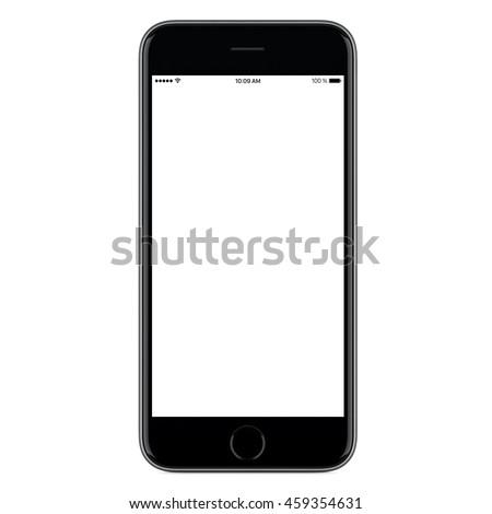 black mobile smart phone mock...